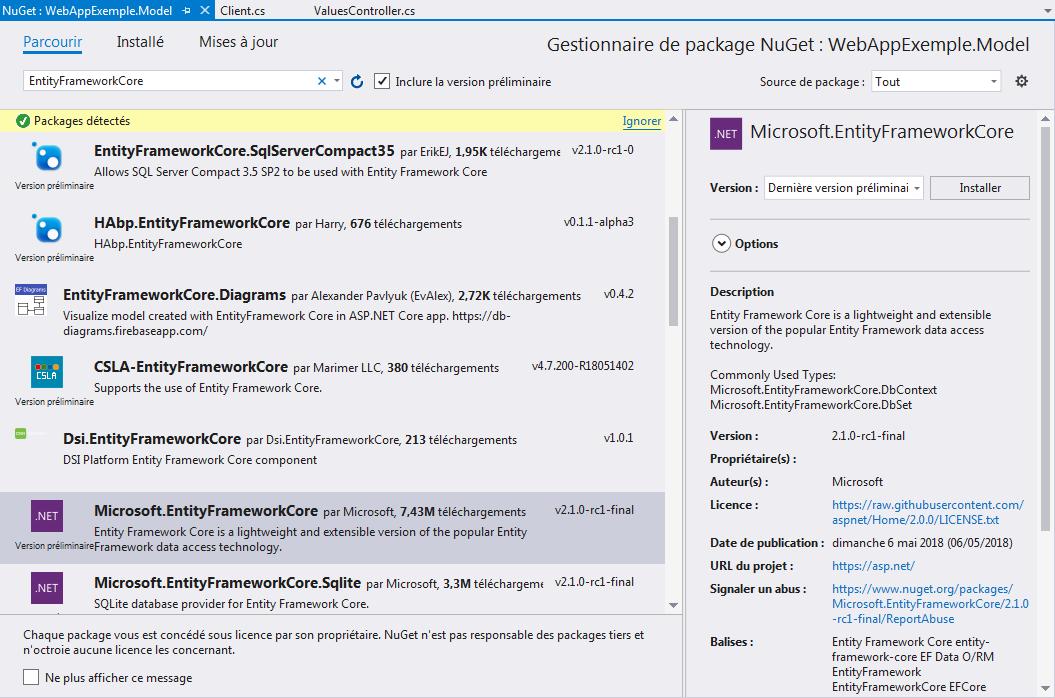 9 - Web API ASP.NET Core