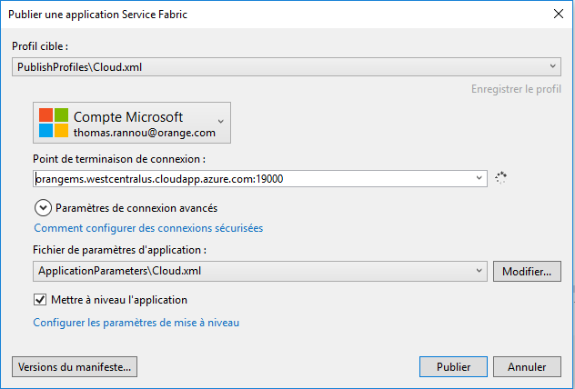 8 - Tester son projet Azure Service Fabric