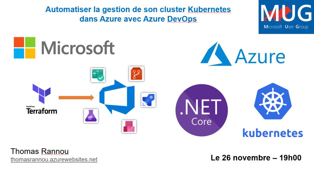 mugLyon 1024x574 - Vidéo MUG Lyon : Azure DevOps et Terraform pour automatiser du Kubernetes dans Azure