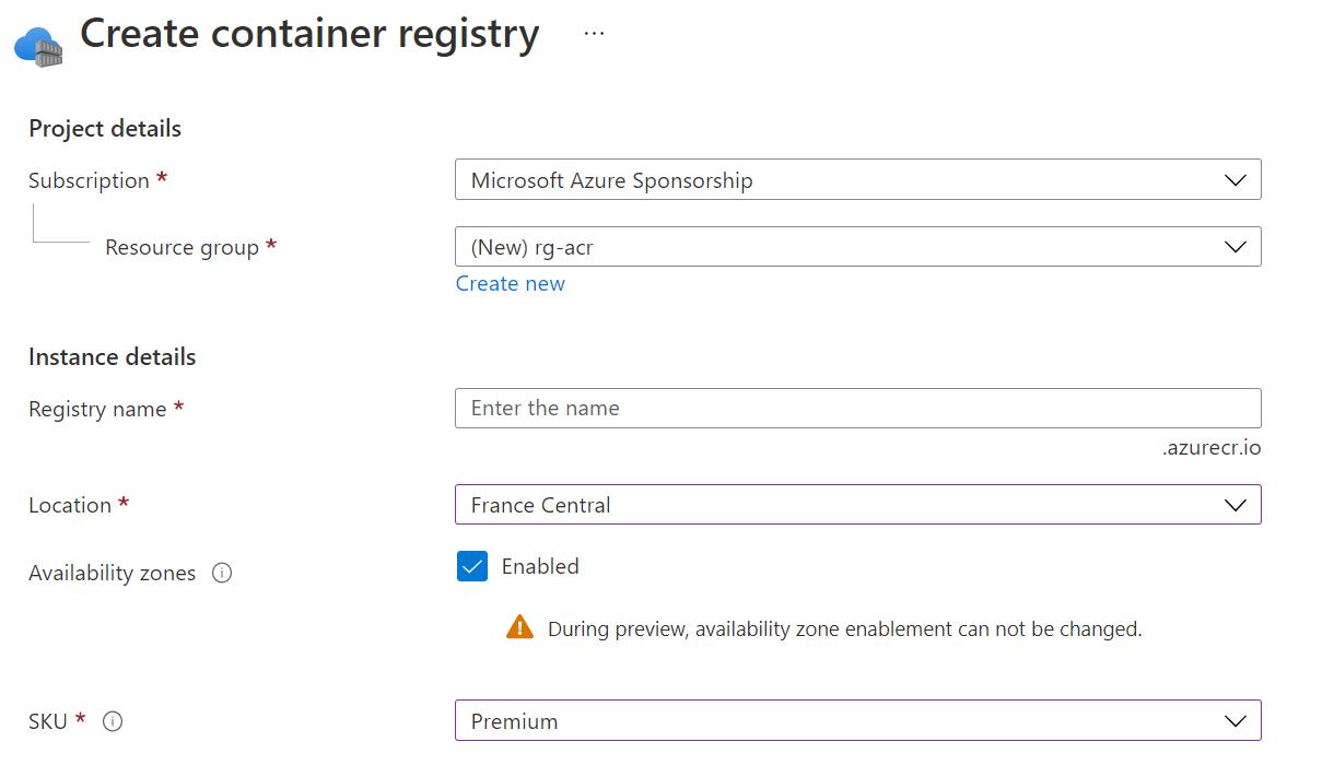 acrwithaz - La haute disponibilité d'un Azure Container Registry
